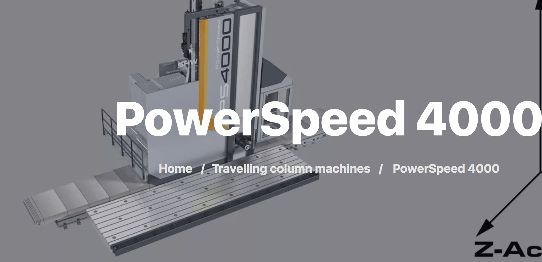 Powerspeed 4000 travelling column machine