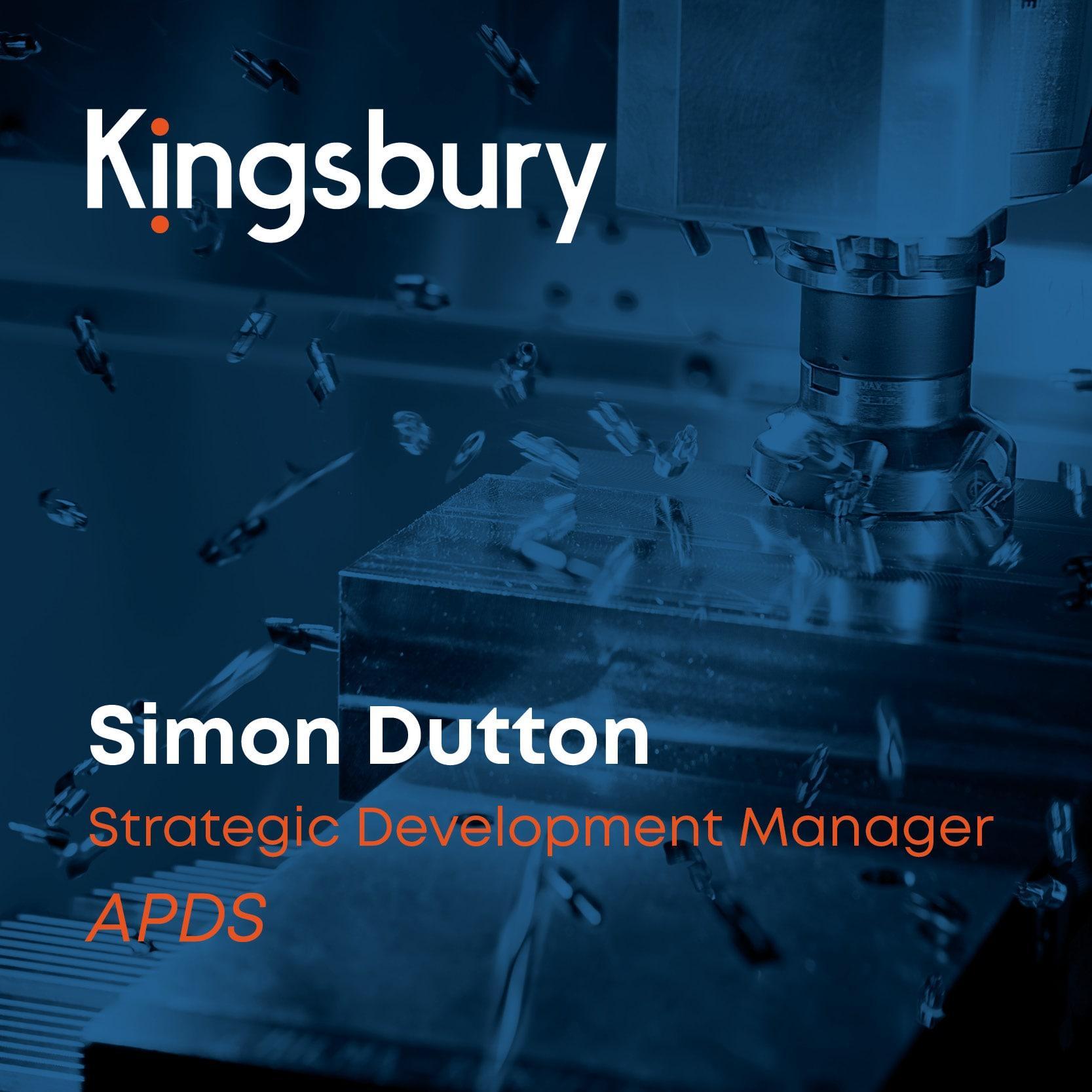 Simon Dutton strategic development manager at APDS
