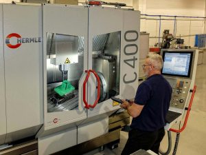 5 axis machining of composite components