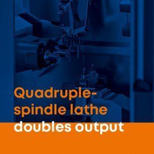 Quadruple-spindle lathe