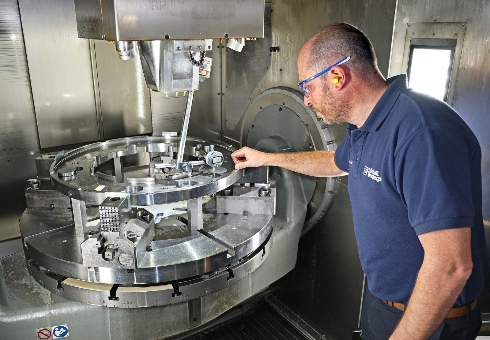 Machining a bearing