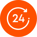 24 clock icon